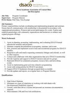 Program Coordinator Job Application